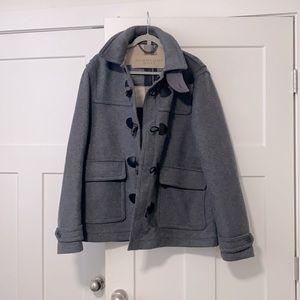 NWOT Men's XXL Gray Burberry Wool Coat